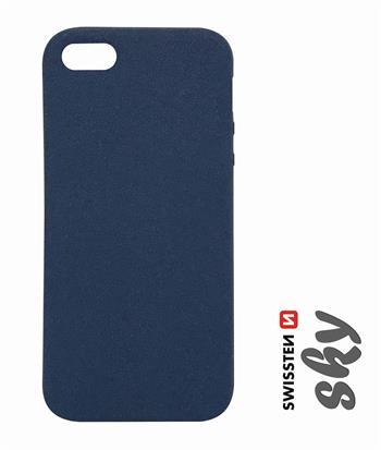 Pouzdro Swissten Sky pro Apple iPhone 5/5S/SE, modrá