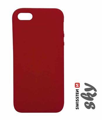 Pouzdro Swissten Sky pro Apple iPhone 5/5S/SE, červená