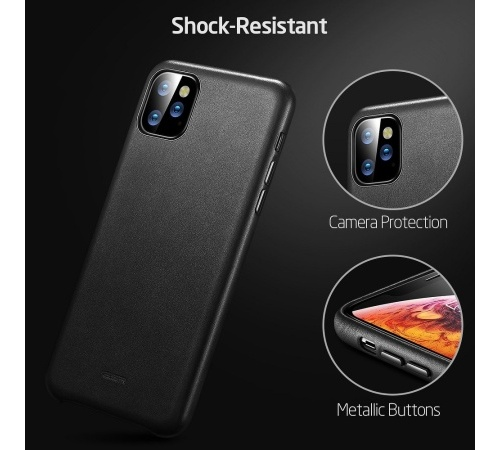 Ochranný kryt ESR Metro Leather pro Apple iPhone 11 Pro Max, černá