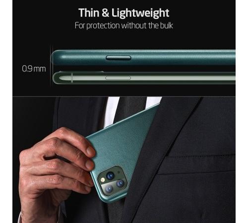Ochranný kryt ESR Metro Leather pro Apple iPhone 11 Pro, zelená