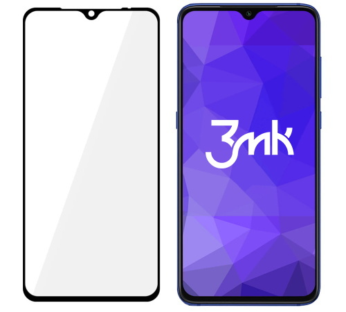 Tvrzené sklo 3mk FlexibleGlass Max pro Xiaomi Mi 9, Xiaomi Mi 9 Pro, černá