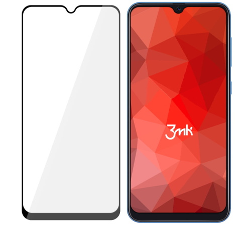Tvrzené sklo 3mk FlexibleGlass Max pro Samsung Galaxy A40, černá