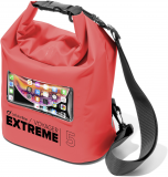 Vodotěsný vak s kapsou na mobilní telefon Cellularline Voyager Extreme, červená