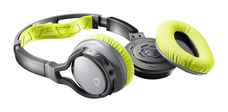 Sportovní bezdrátová sluchátka Cellularline CHALLENGE s odnímatelnými a pratelnými náušníky, AQL® certifikace, žlutá