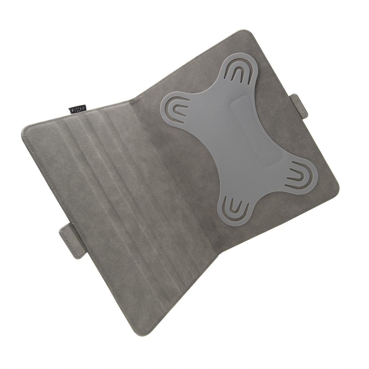 """FIXED Novel textilní pouzdro pro 10.1"""" tablety se stojánkem a kapsou, temně šedé"""
