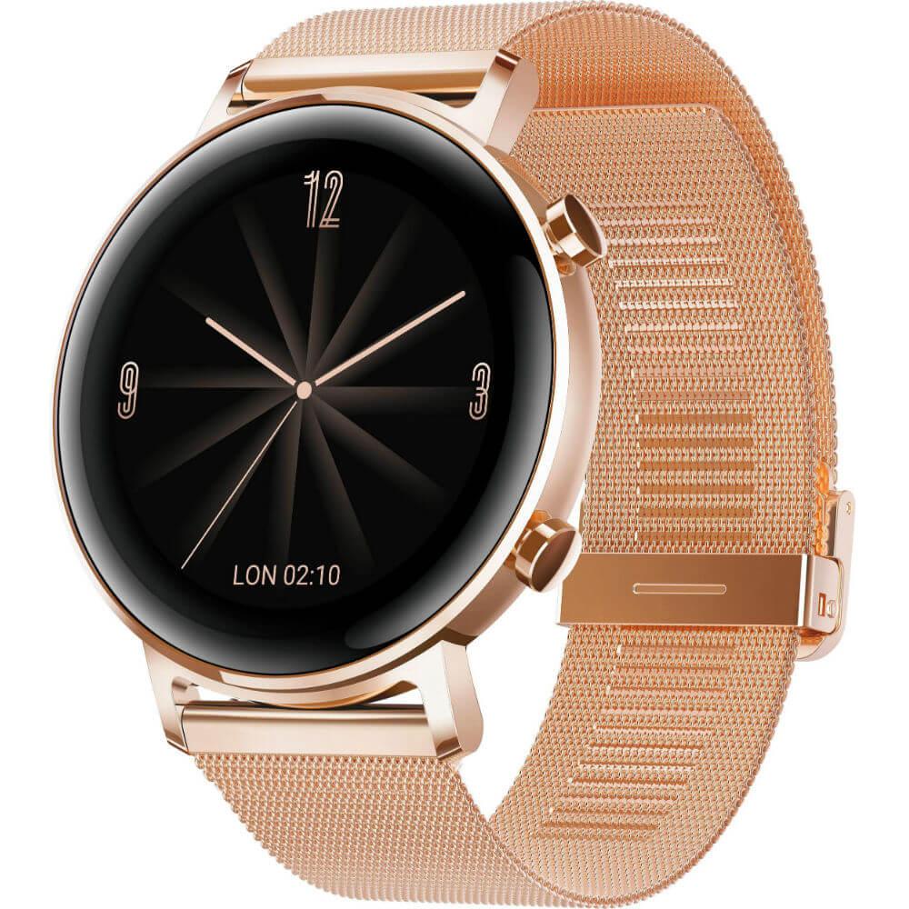 Hodinky Huawei Watch GT 2 42mm Rose Gold + Milanese řemínek