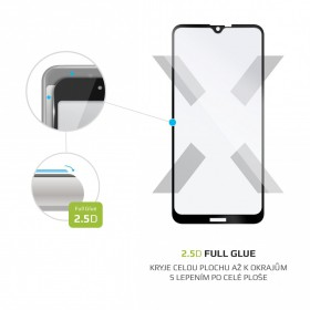 Ochranné tvrzené sklo FIXED Full-Cover pro Nokia 2.3, lepení přes celý displej, černé