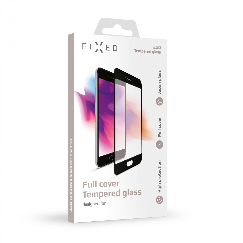 Ochranné tvrzené sklo FIXED Full-Cover pro Xiaomi Redmi Note 6, přes celý displej, černé, 0.33 mm