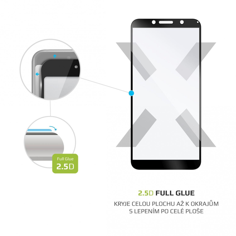 Ochranné tvrzené sklo FIXED Full-Cover pro Motorola Moto E6 Play, lepení přes celý displej, černé