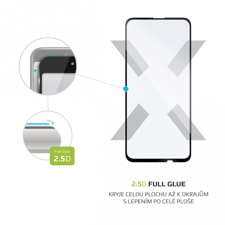 Ochranné tvrzené sklo FIXED Full-Cover pro Huawei P Smart Pro (2019), lepení přes celý displej, černé