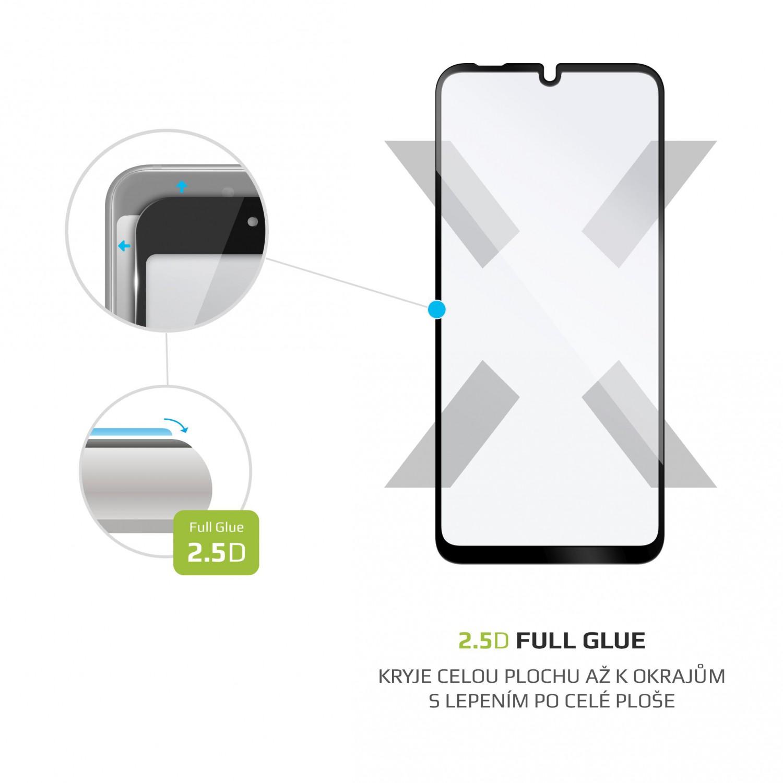 Ochranné tvrzené sklo FIXED Full-Cover pro Motorola E6 Plus, lepení přes celý displej, černé