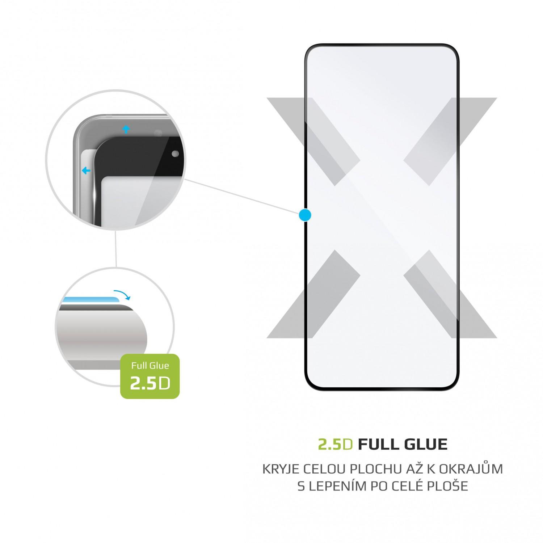 Ochranné tvrzené sklo FIXED Full-Cover pro Honor View 30, lepení přes celý displej, černé