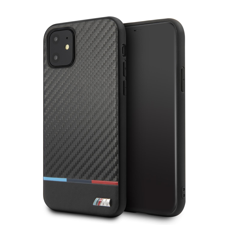 BMW M Carbon Tricolore zadní kryt BMHCN61PUCARTCBK pro Apple iPhone 11 black