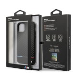BMW M Carbon Tricolore zadní kryt BMHCN58PUCARTCBK pro Apple iPhone 11 Pro black