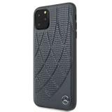 Mercedes Genuine Leather zadní kryt MEHCN65DIQNA pro Apple iPhone 11 Pro Max blue
