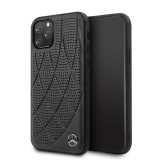 Mercedes Perforated Leather zadní kryt MEHCN65DIQBK pro Apple iPhone 11 Pro Max black