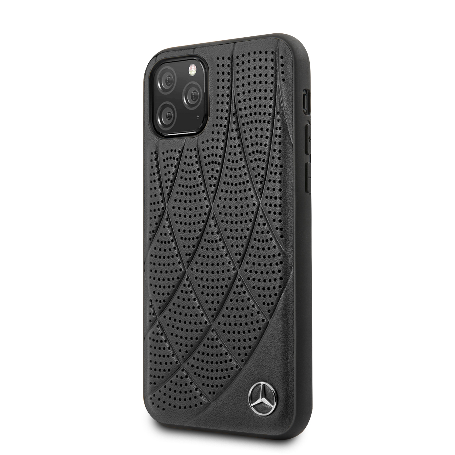 Mercedes Perforated Leather zadní kryt MEHCN58DIQBK pro Apple iPhone 11 Pro black