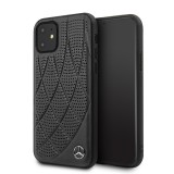 Mercedes Perforated Leather zadní kryt MEHCN61DIQBK pro Apple iPhone 11 black