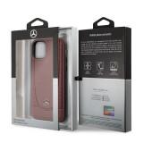 Mercedes Perforation kožený kryt MEHCN61ARMRE pro Apple iPhone 11 red