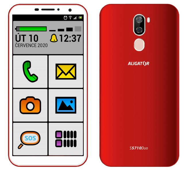 ALIGATOR S5710 SENIOR Duo 16GB červený