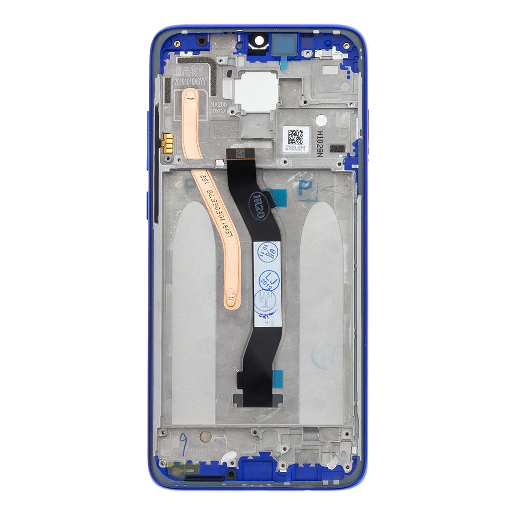 LCD Display + Dotyková Deska + Přední Kryt pro Xiaomi Redmi Note 8 Pro Blue