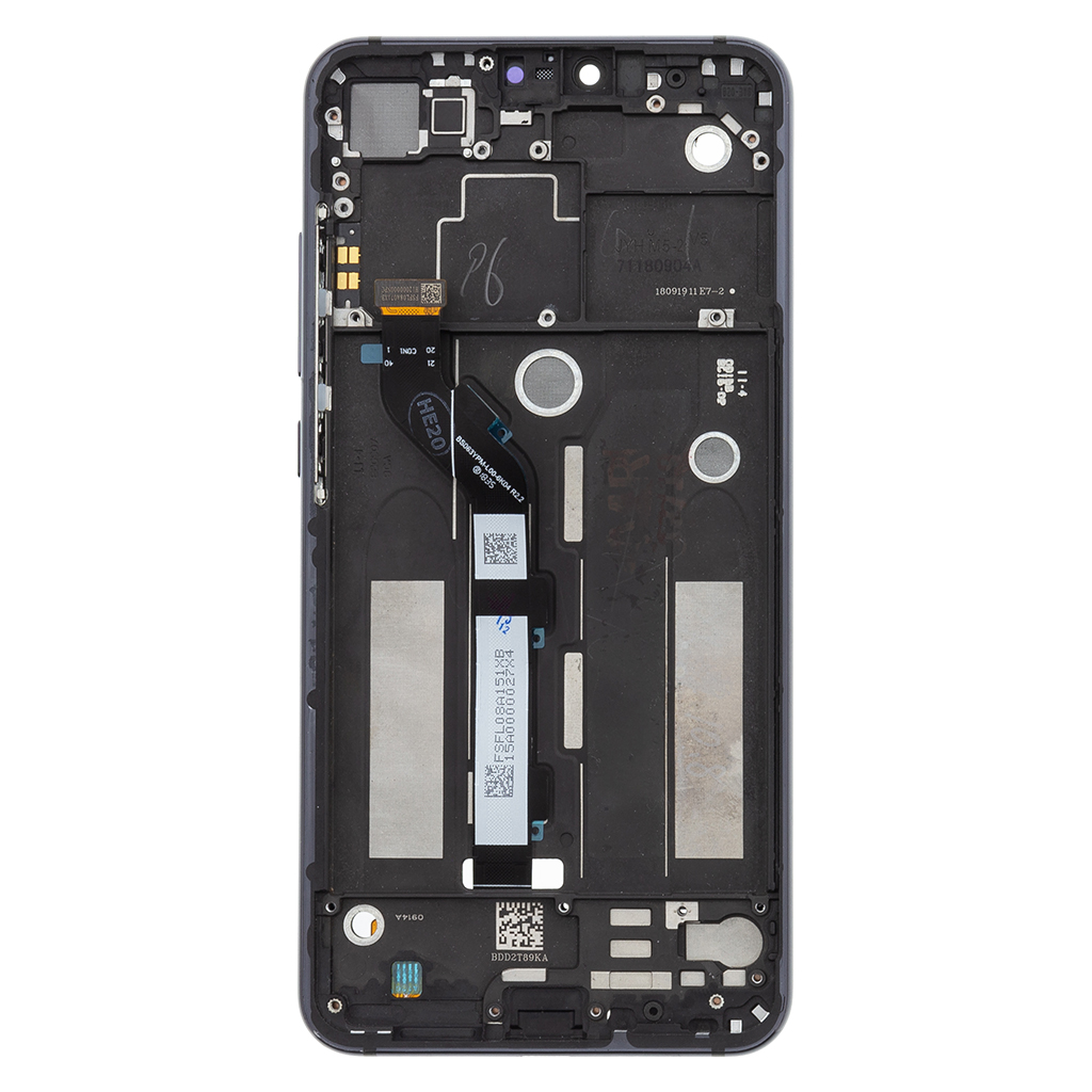 LCD Display + Dotyková Deska + Přední Kryt pro Xiaomi Mi8 Lite Black (Service Pack)