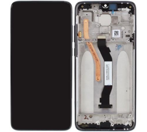 ND Xiaomi Redmi Note 8 Pro LCD + dotyková jednotka + přední kryt, černá (Service pack)