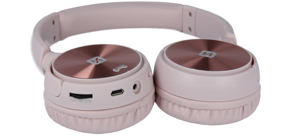 Bezdrátová sluchátka Swissten Trix růžová