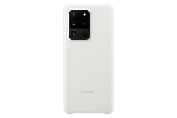 Ochranný kryt Silicone Cover pro Samsung Galaxy S20 ultra, bílá