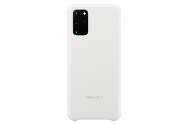 Ochranný kryt Silicone Cover pro Samsung Galaxy S20 plus, bílá