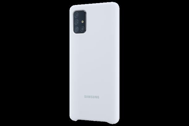 Ochranný kryt Silicone cover pro Samsung Galaxy A71, stříbrná