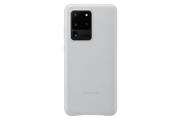 Ochranný kryt Leather Cover pro Samsung Galaxy S20 ultra, světle šedá