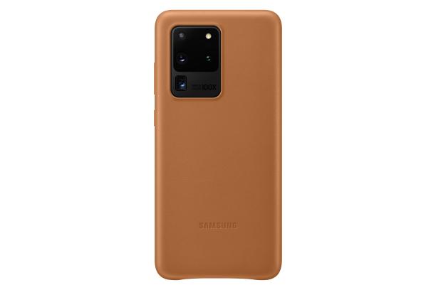 Ochranný kryt Leather Cover pro Samsung Galaxy S20 ultra, hnědá