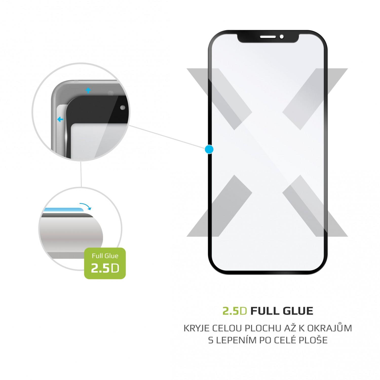 Ochranné tvrzené sklo FIXED Full-Cover pro Huawei P40 Lite, lepení přes celý displej, černé