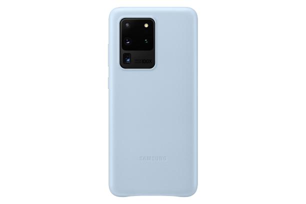 Ochranný kryt Leather Cover pro Samsung Galaxy S20 ultra, modrá