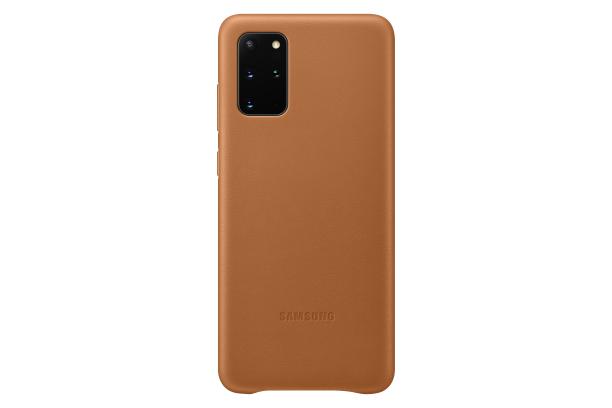 Ochranný kryt Leather Cover pro Samsung Galaxy S20 plus, hnědá