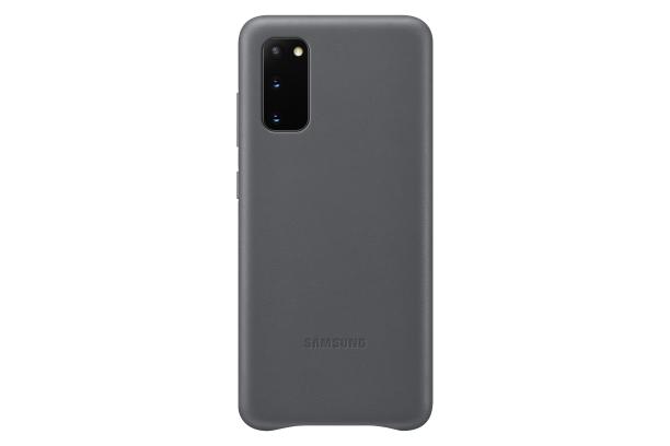 Ochranný kryt Leather Cover pro Samsung Galaxy S20, šedá
