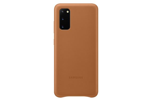 Ochranný kryt Leather Cover pro Samsung Galaxy S20, hnědá