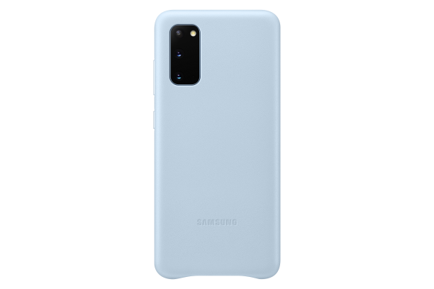 Ochranný kryt Leather Cover pro Samsung Galaxy S20, modrá