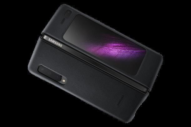 Ochranný kryt Leather Cover pro Samsung Galaxy Fold EF-VF900LBEGWW černý
