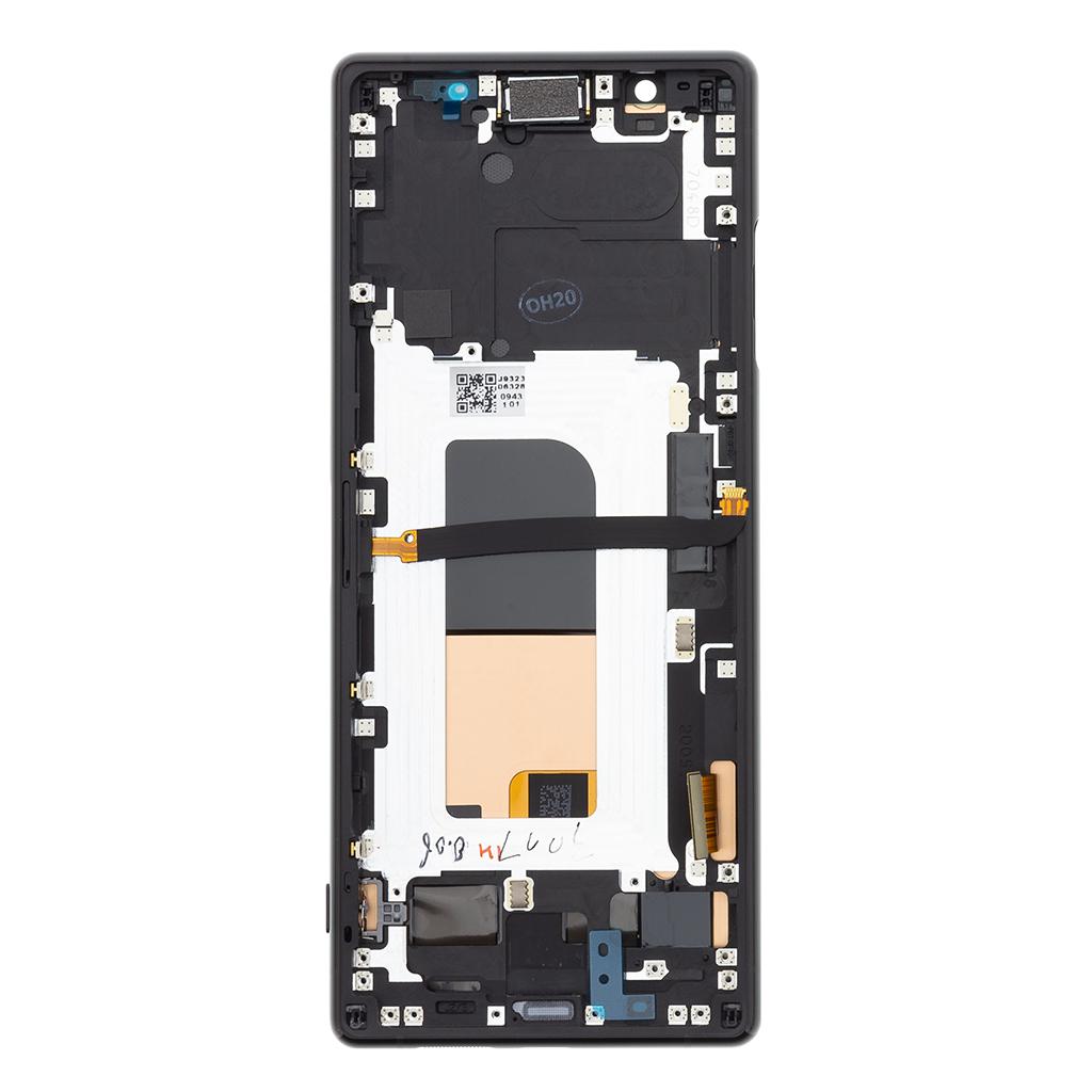LCD Display + Dotyková Deska + Přední Kryt Sony J8210 Xperia 5 Black (Service Pack)