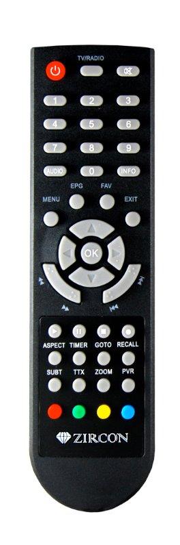 DVB-T/T2 přijímač ZIRCON FIRE SE /Full HD/H.265/HEVC/ CRA ověřeno/ PVR/ EPG/ USB/ HDMI/ SCART/ černá