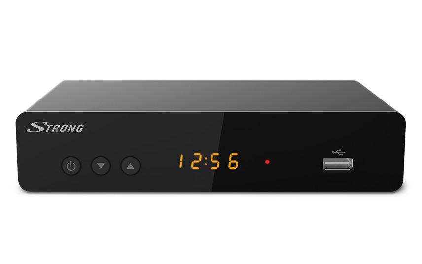 Set top box STRONG SRT 8222 DVB-T/T2 /Full HD/ H.265/HEVC/ twin tuner/ PVR/ EPG/ USB/ HDMI/ LAN/ SCART/ černá
