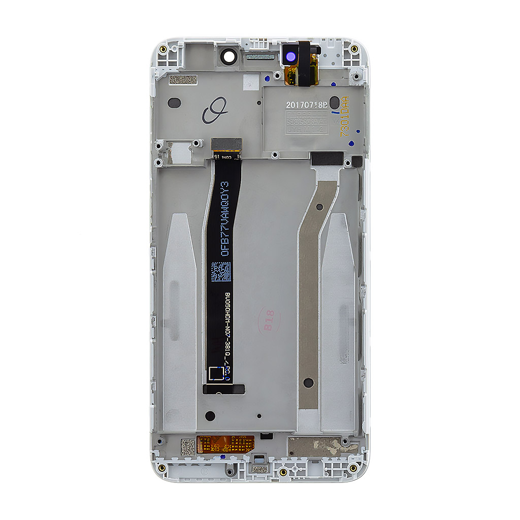 LCD Display + Dotyková Deska + Přední Kryt pro Xiaomi Redmi 4X White (Service Pack)