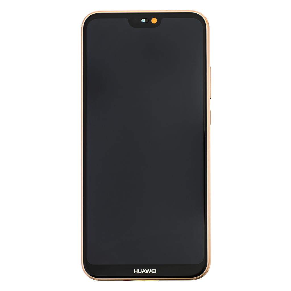 LCD + dotyk + rámeček + baterie pro Huawei P20 Lite, pink (Service Pack)