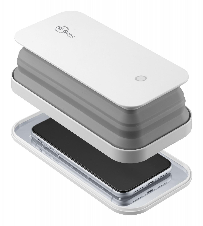 Skládací UV sterilizér Cellularline pro mobilní telefony a jiné drobnosti, bílý