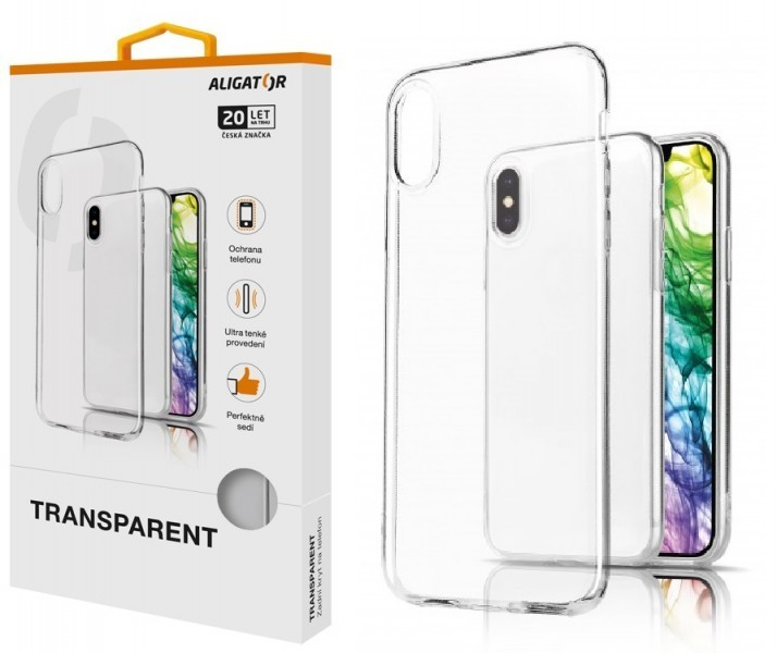 Silikonové pouzdro TRANSPARENT ALIGATOR pro Xiaomi Mi Note 10 lite