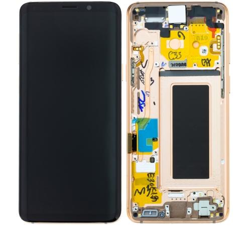 ND Samsung G960 Galaxy S9 LCD + dotyková deska, gold/zlatá (Service Pack)
