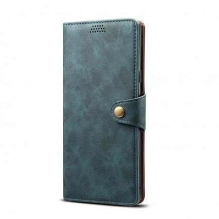Lenuo Leather flipové pouzdro na Xiaomi Redmi 9, blue