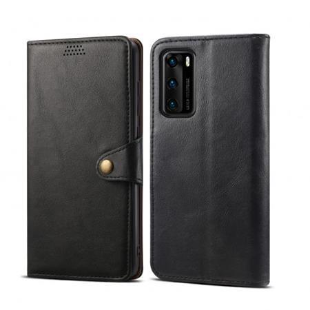 Lenuo Leather flipové pouzdro na Samsung Galaxy A21s, black